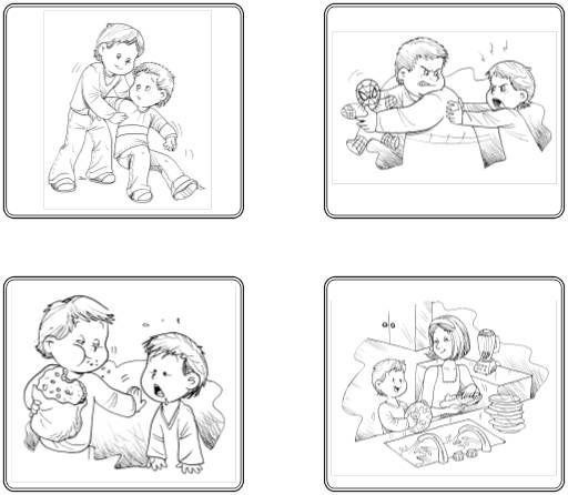 Acciones malas y buenas para colorear - Imagui | emociones | Pinterest