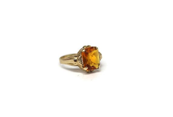 10k Gold November Birthstone 1920 1930 Jewelry Citrine 17th Anniversary November Birthstone 10k Gold Jewelry