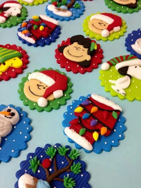 Charlie Brown Christmas Cupcake Toppers Cupcake Toppers