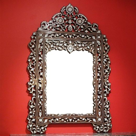 Picture of Style # 1182 - Old inlaid Syrian Mirror with mother of pearl. $3,900  US$4900 AkBik IL.