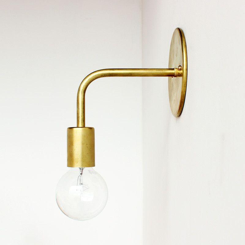 Bathroom designs Brass wall sconce