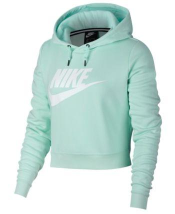 4227f03adc0e Nike Sportswear Rally Logo Cropped Fleece Hoodie - Green L