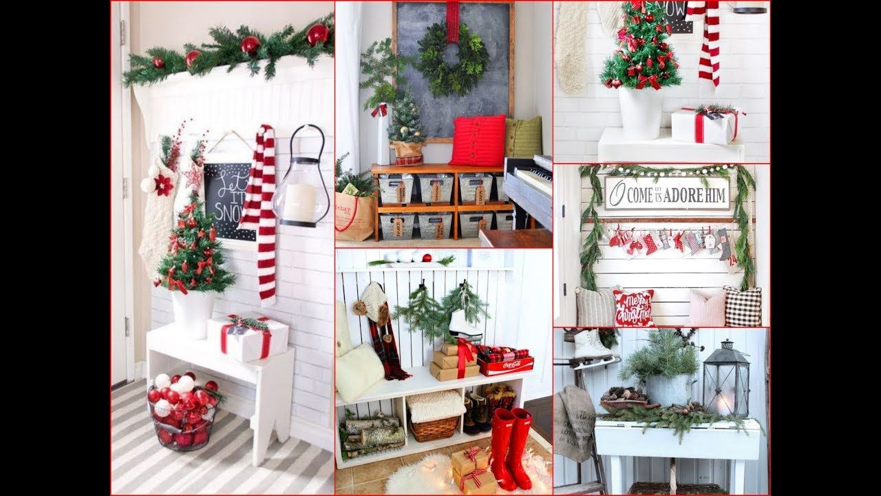 50 amazing winter and christmas entryway decor ideas youtube rh pinterest com