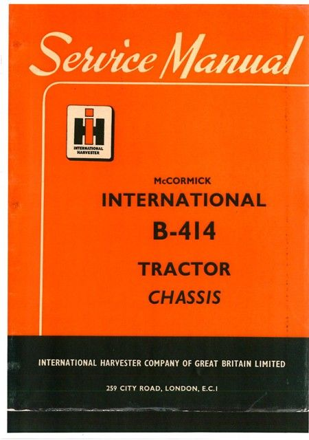mccormick international tractor b414 workshop service manual 8568 p rh pinterest com International B414 Seat International B414 Seat