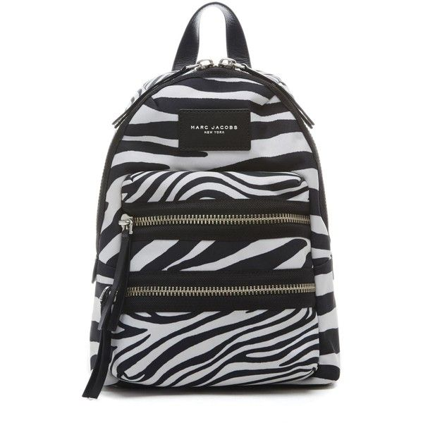 4bd81aea5d Marc Jacobs Zebra Printed Biker Backpack ( 225) ❤ liked on Polyvore  featuring bags