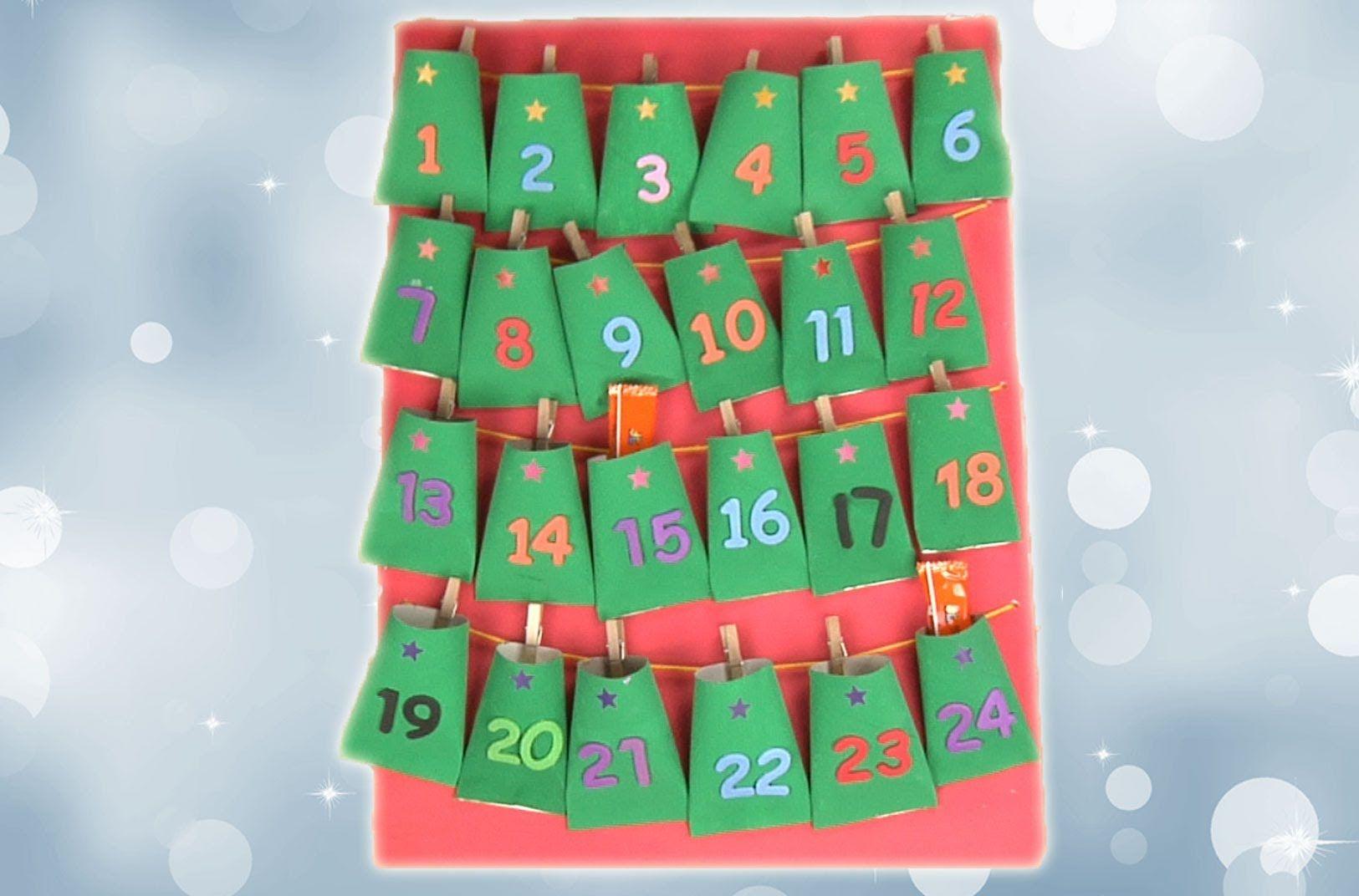 Calendario Adviento Infantil.Calendario De Adviento Manualidades Navidad Calendario