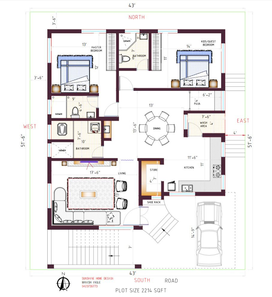 East Facing Plan South Facing Plot Best 2bhk Plan See Detail Video To Understand Micro Concepts 20x40 House Plans My House Plans House Plans