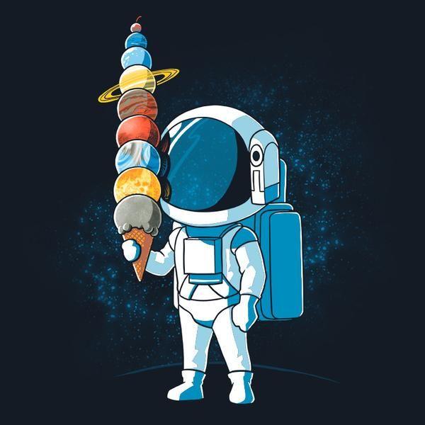 Astronaut Ice Cream Astronaut art, Astronaut drawing