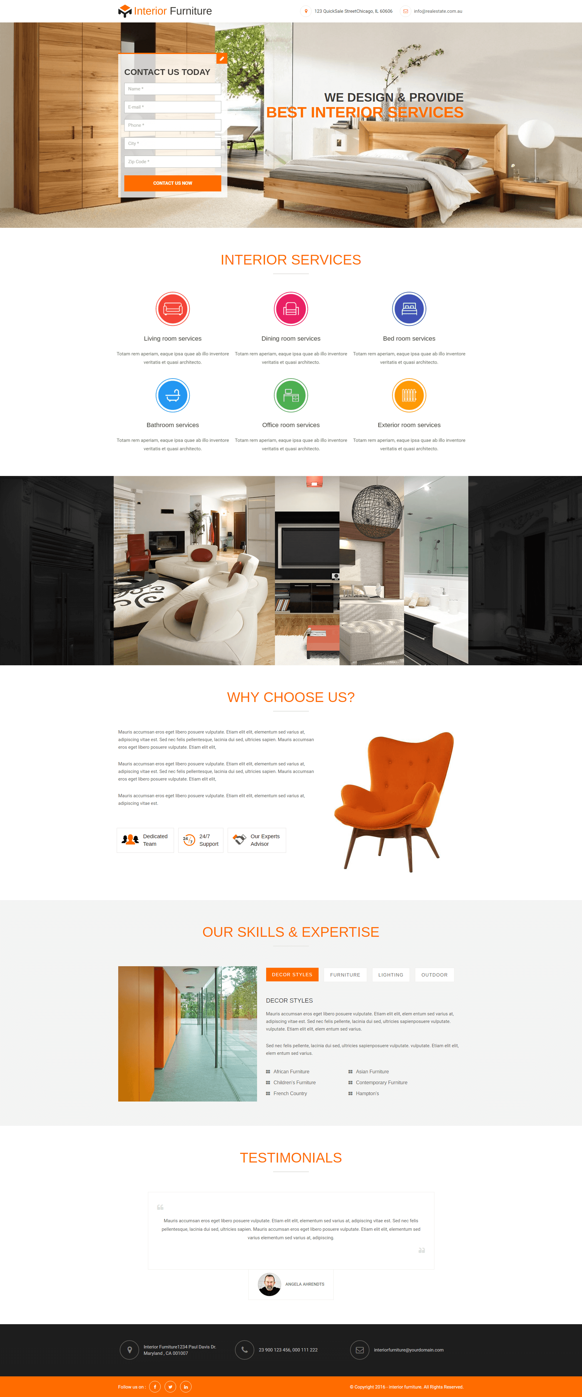 interior and furniture html5 responsive landing page template lead rh pinterest com