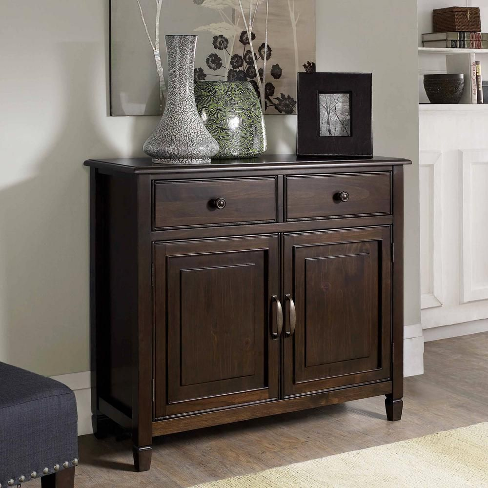 Simpli Home Connaught Solid Wood 40 In Wide Transitional Entryway Storage Cabinet In Dark Chestnut Brown 3axccon 04 Entryway Storage Cabinet Entryway Storage Decor