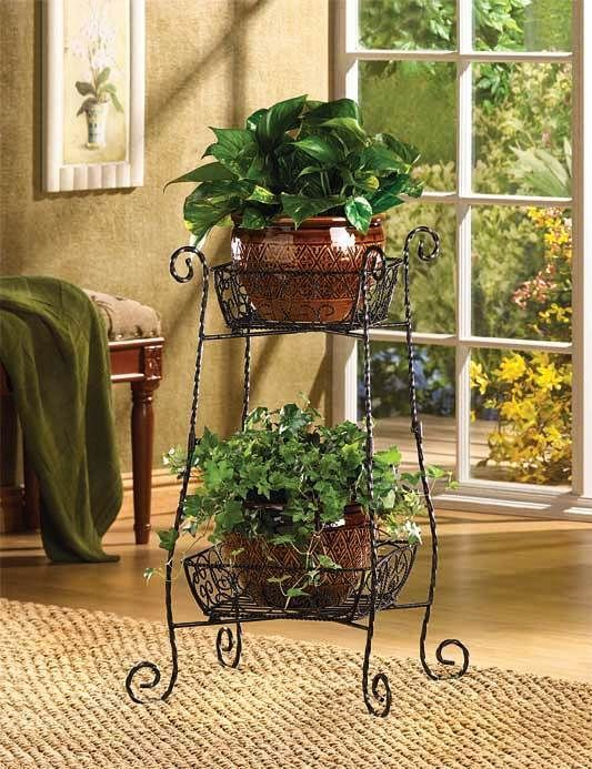 wrought iron plant stand how pretty metal plant stand wire rh pinterest com