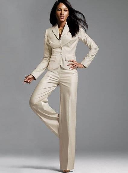 361edee47 ELEGANT WHITE SUITES FOR WOMEN   Off White Colored Womens Formal ...