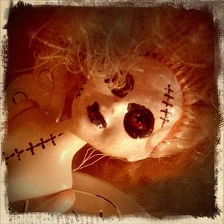 DIY dollar store scary dolls...this would be a funny contest for a Halloween party.