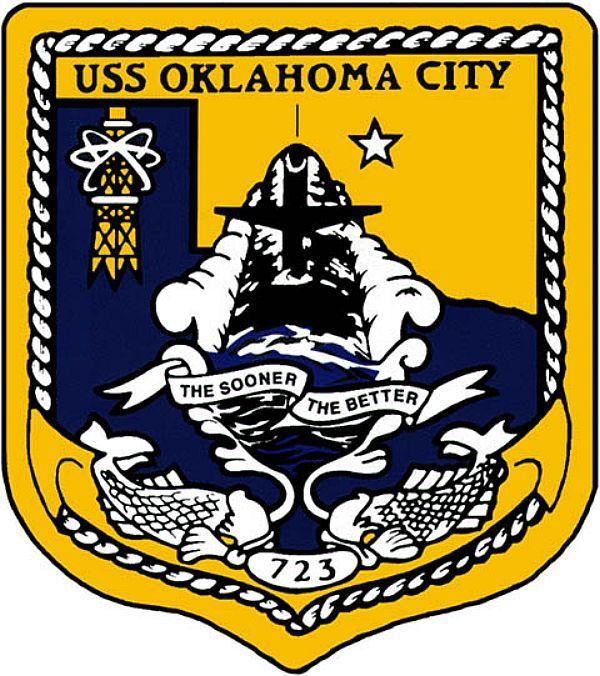 USS OKLAHOMA CITY SSN-723 PATCH