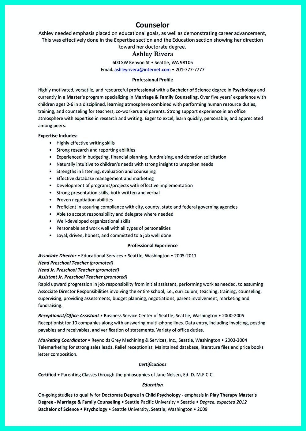 Awesome Counselor Resume Examples To Get Hired Now