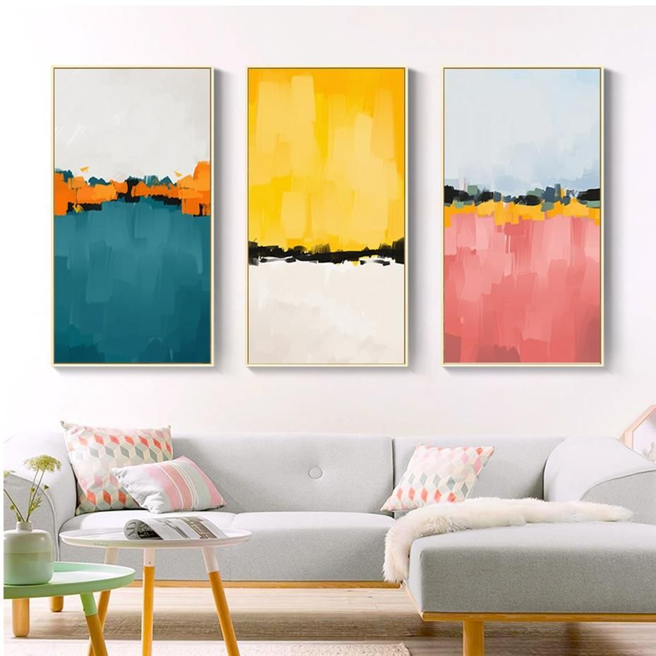 Abstract Multicolored Wall Art in 32   Abstract canvas wall art ...