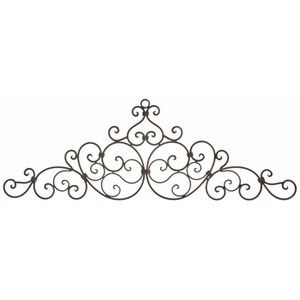 Long Wall Decor   Wrought Iron Door Toppers   Metal Wall Han .