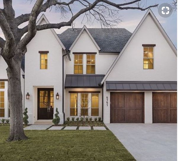Beautiful House Facade With Pointed Gables. In 2019