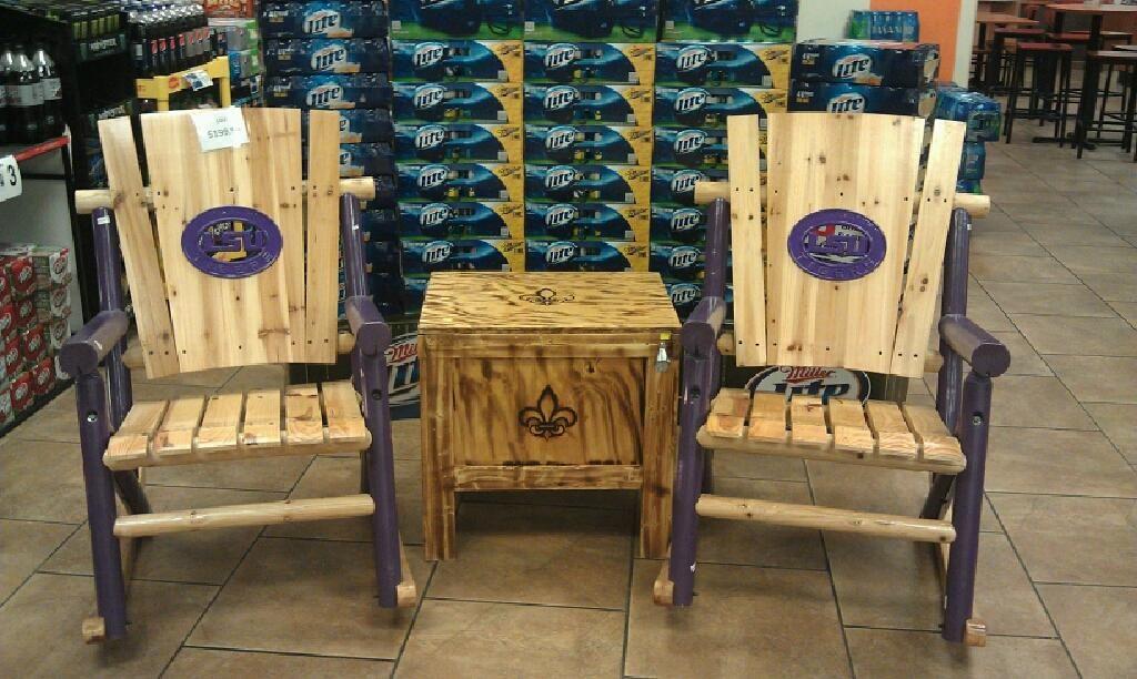 Gentil LSU Rocking Chairs. Very Cool!