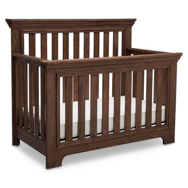 Serta Langley 4 in 1 Convertible Crib, Rustic Oak ($700) ❤ liked on ...