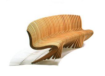 Diamond Spirit Song Curved Bench Barbara & Robert Tiffany Modern Furniture  @ TheMagazine.info