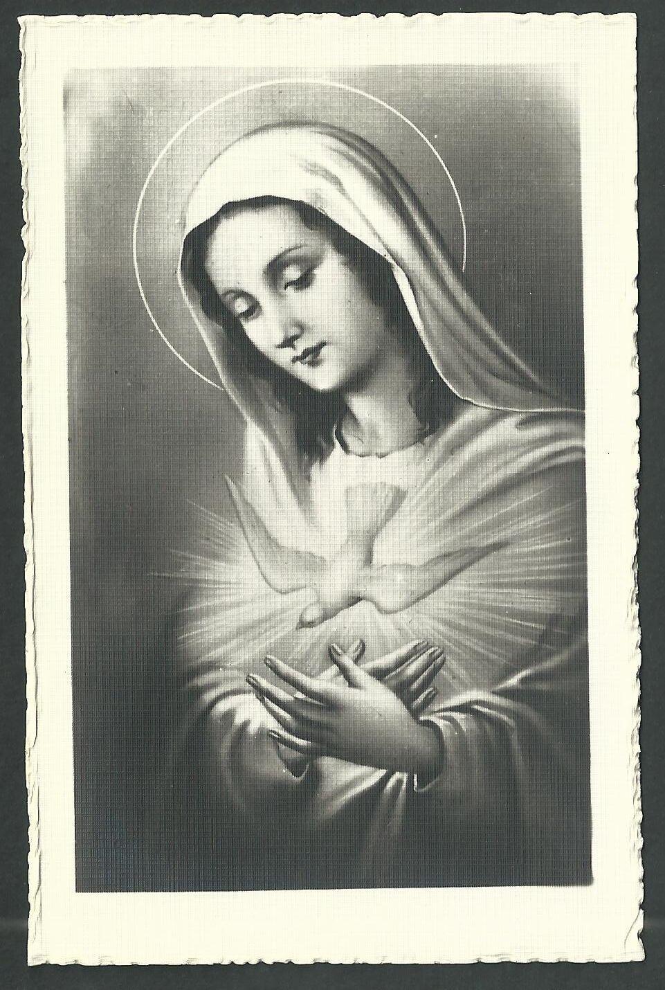 Estampa Antigua De La Virgen Andachtsbild Santino Holy Card