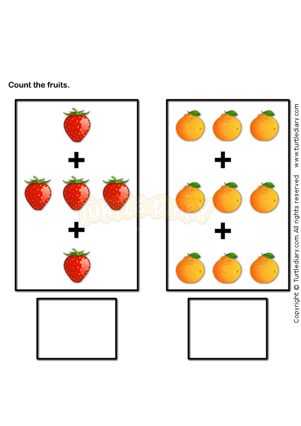 Picture Addition 1 - math Worksheets - preschool Worksheets ...