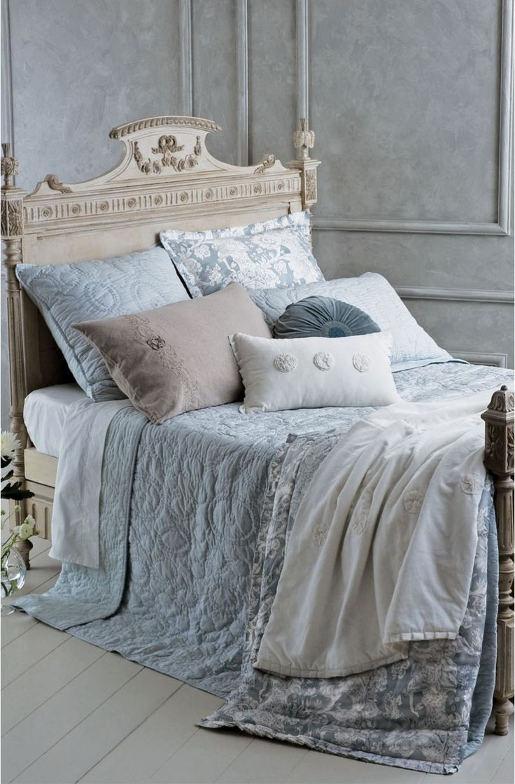 Grey french country bedroom pin by it takes two  on bernadettes la maison bleue  pinterest