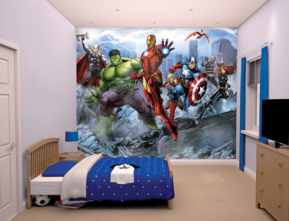 Any Marvel Comics Fan Is Going To Love This Huge Marvel Avengers Assemble Wall  Mural.