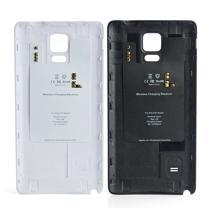 save off 4e389 9a568 For SamSung Galaxy Note 4 Wireless Battery Back Cover Case Charger ...