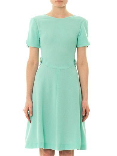 44cbecf8194 Goat Tai A-line wool-crepe dress
