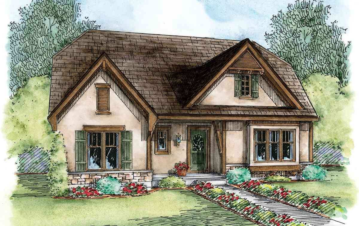 Plan 42349db European Cottage With Expansion Possibilities Cottage House Plans Cottage Style House Plans Small Cottage House Plans