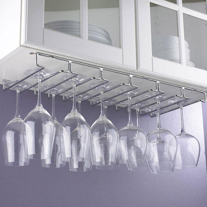 under cabinet stemware rack wine storage hanging wine glass rack rh pinterest com