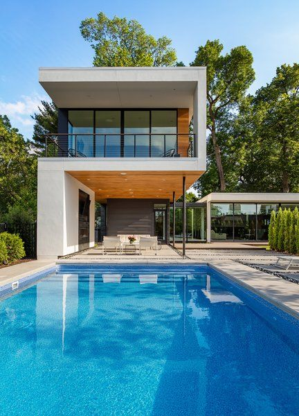 modern home with outdoor swimming pool prefab container pool rh pinterest com