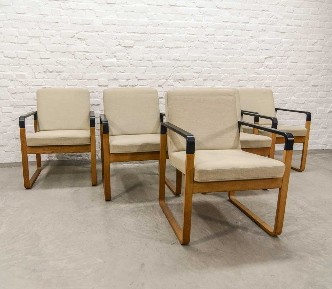Danish Beech Wood Dining Chairs by Magnus