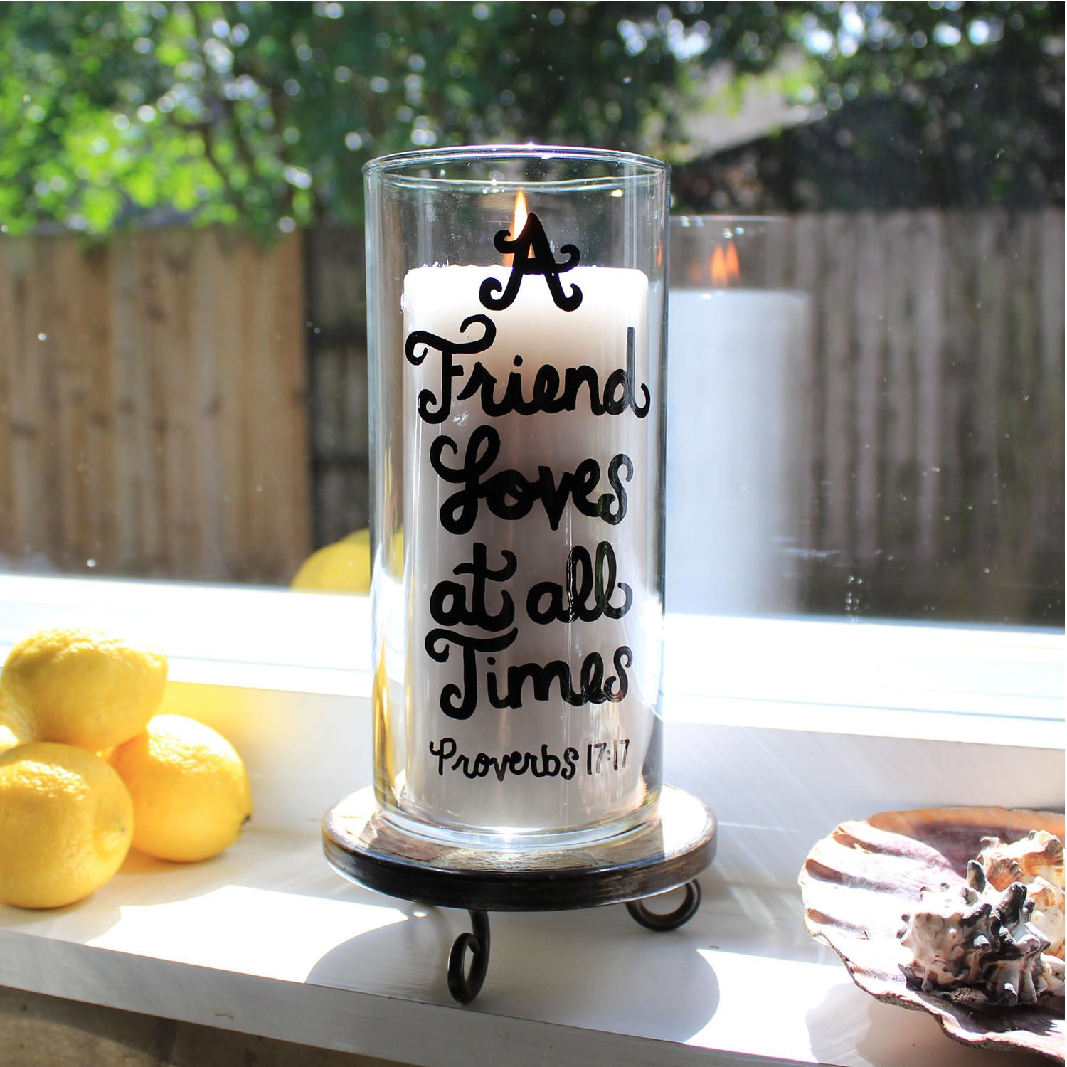 Maid Of Honor Gift Christian Best Friend Birthday Candle Holder Flower Vase Bridesmaid Proverbs For The Bride By StepFreeDesigns