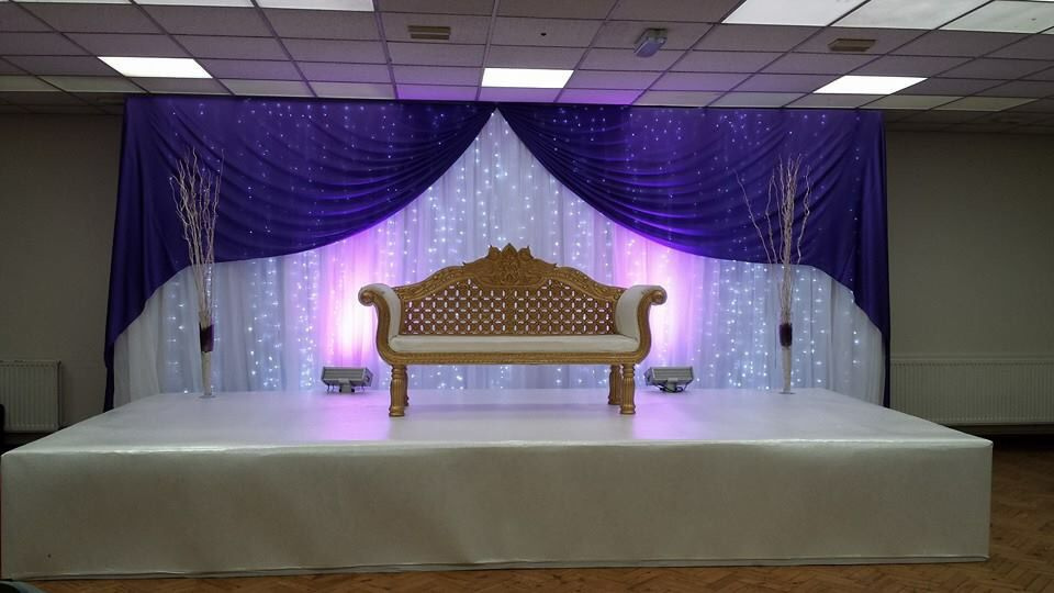 wedding stage decoration pics%0A Indian Wedding Decor  Engagement Set Up