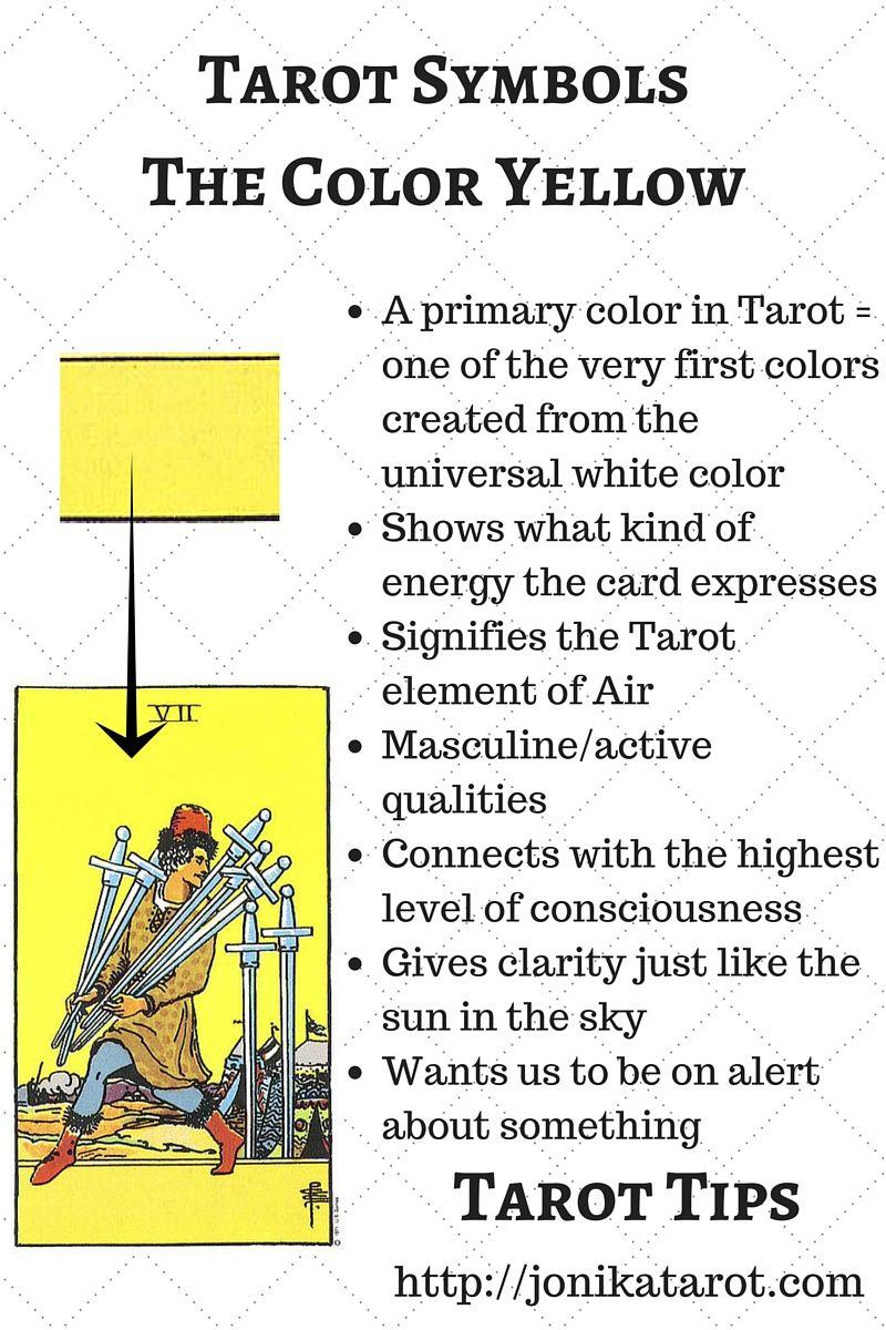Tarot Symbols Yellow Tarot Learning Reading Tarot Cards Tarot Readers