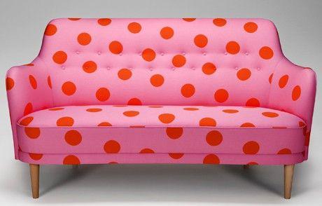 polka dot couch pink red pink polka dots polka dots red pink rh pinterest com
