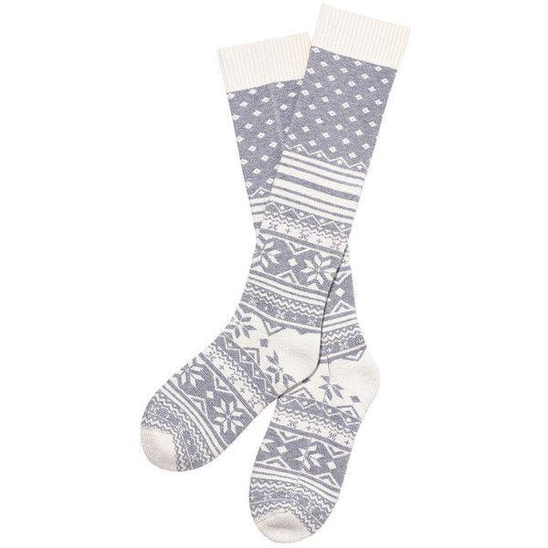 Victoria's Secret Fair Isle Socks (170 SEK) ❤ liked on Polyvore featuring intimates, hosiery, socks, women, accessories, grey, victoria's secret, grey socks, gray socks y fair isle socks