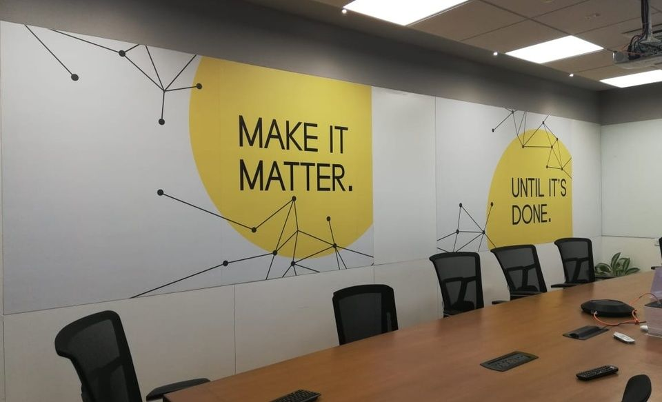 Conference Room Graphics Internal Branding Office Wall Design