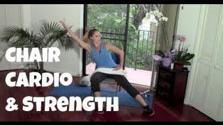 chair workout i ii seated cardio strength fat burning low rh pinterest com