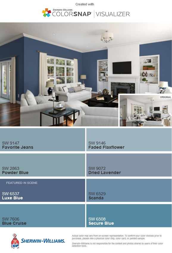 luxe blue sw 6537 and comparison blue color pallet from sherwin rh pinterest com