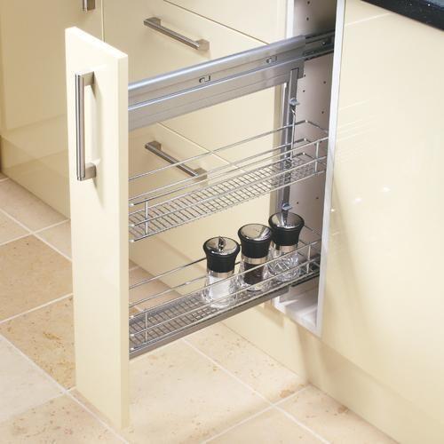 Kitchen Cabinet Storage Solutions Diy Pull Out Shelves: Tier Steel Storage Basket - 150mm In 2019