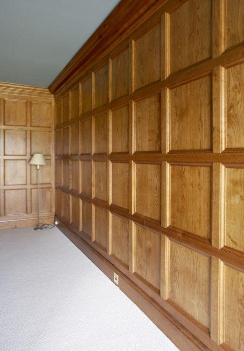 Oak Paneled Room: Light Oak Plain Moulded Panelling (With Images)