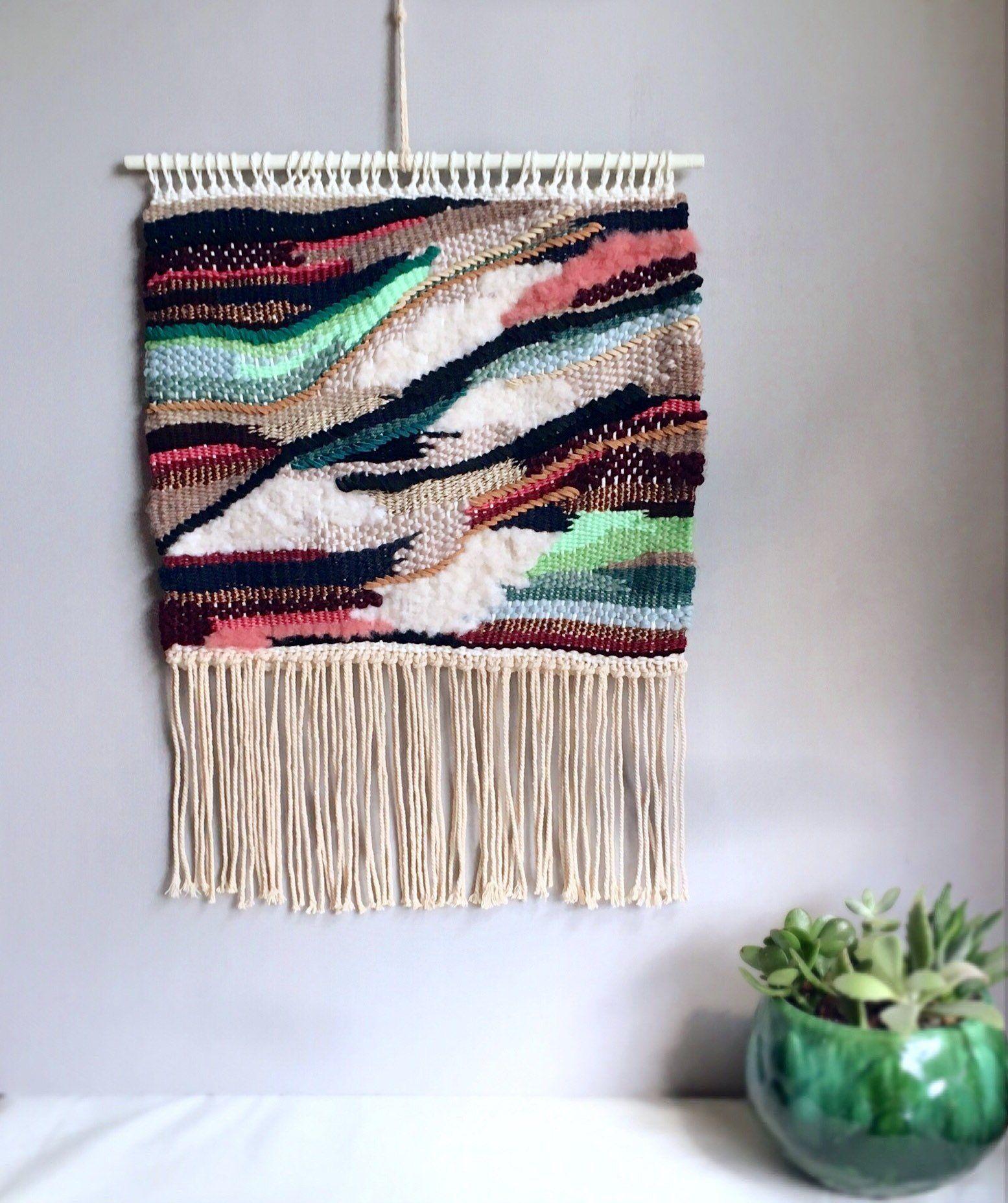 Woven Wall Hanging Tapestry Wall Hanging Modern Weaving Fiber Art Textile Art Handwoven Boho D Woven Wall Hanging Tapestry Wall Hanging Wall Tapestry