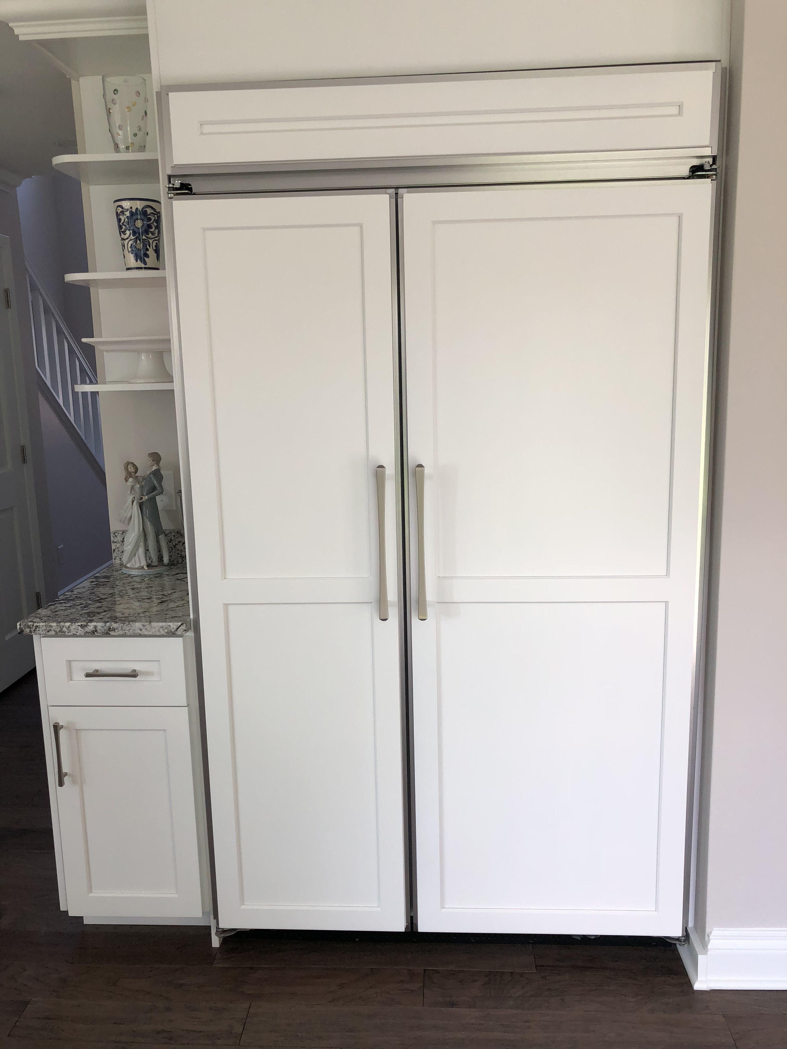 48 u201d kitchen aid refrigerator panel ready custom designed white rh pinterest com