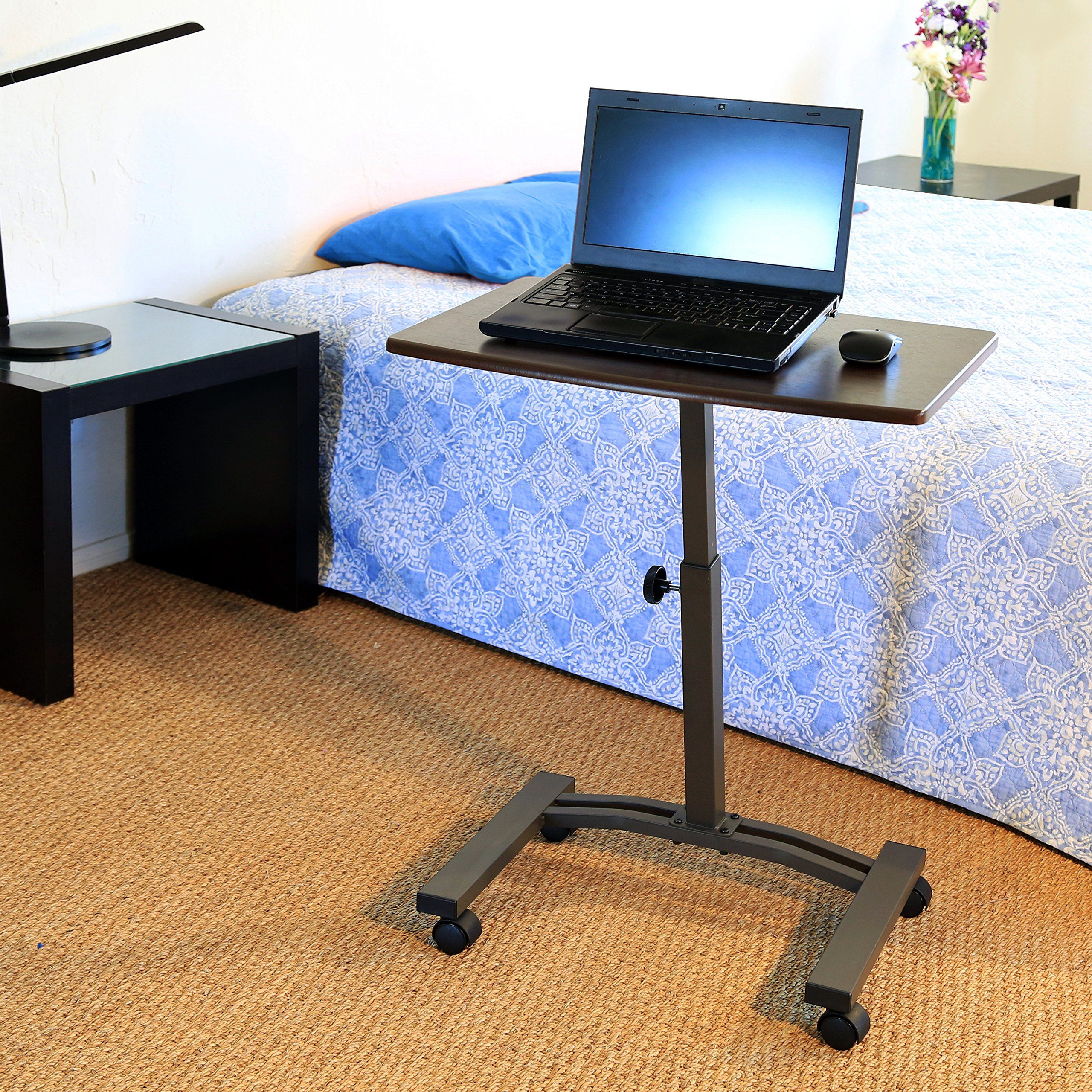 Amazon.com - Seville Classics Mobile Laptop Desk Cart - Notebook Computer  Stands | Ev ofisi, Ofisler, Evler