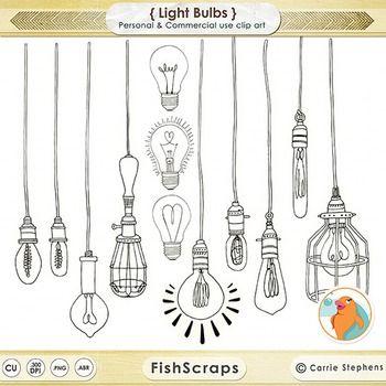 Dangling Light Bulb Clipart Bright Ideas Black Line Art Edison Bulb Images Bullet Journal Inspiration Bullet Journal Doodles Clip Art