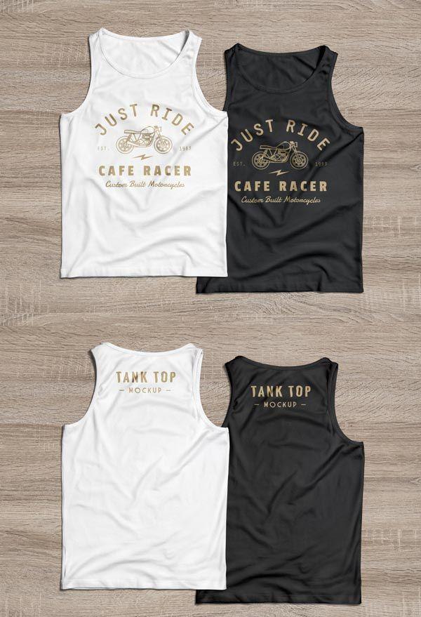 Download Front Back Tank Top Mockup Shirt Mockup Tank Tops Clothing Mockup